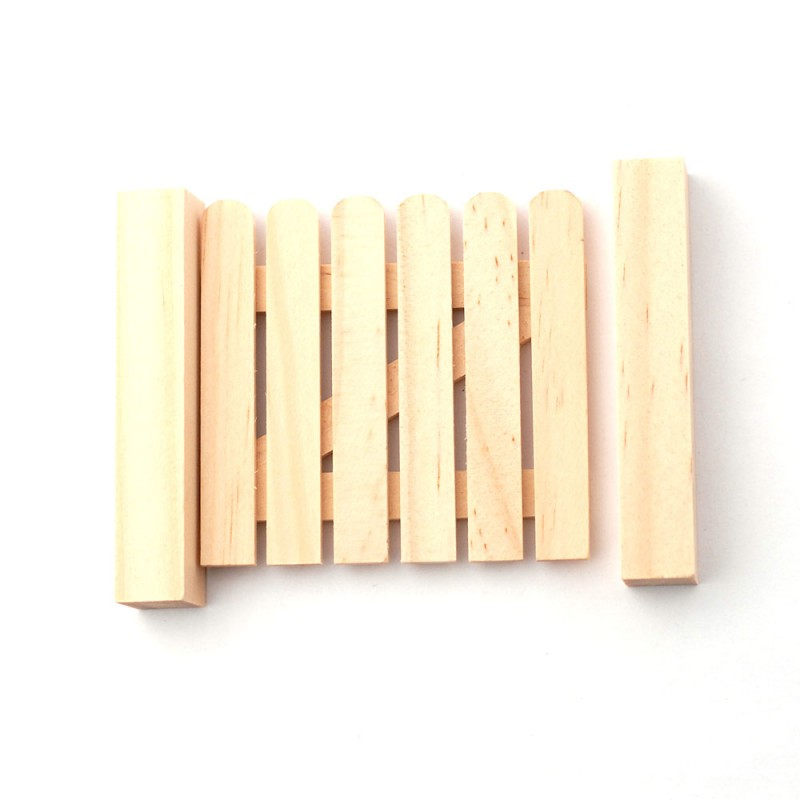 Dolls House Small Gate Unfinished Bare Wood Miniature Garden Fence Accessory