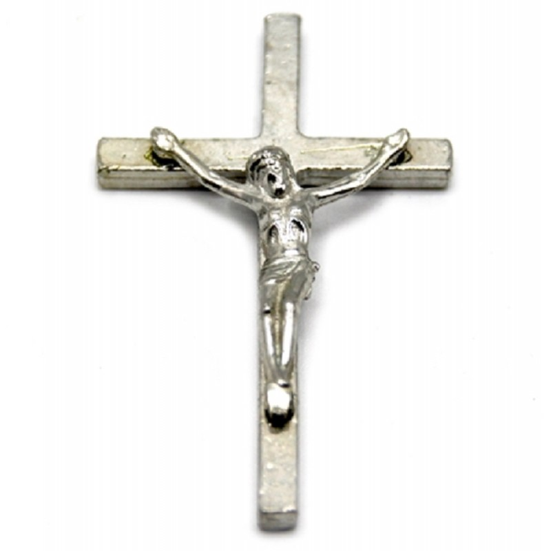 Dolls House Silver Crucifix Cross Miniature Religious Church 1:12 Accessory