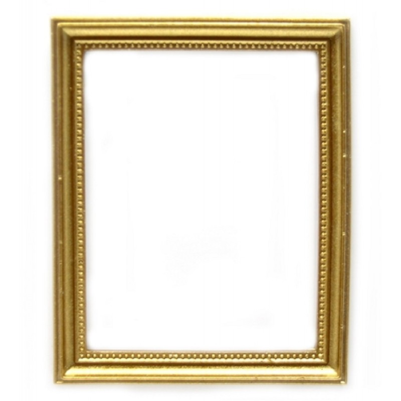Dolls House Empty Gold Picture Painting Frame Miniature Accessory 1:12 Scale