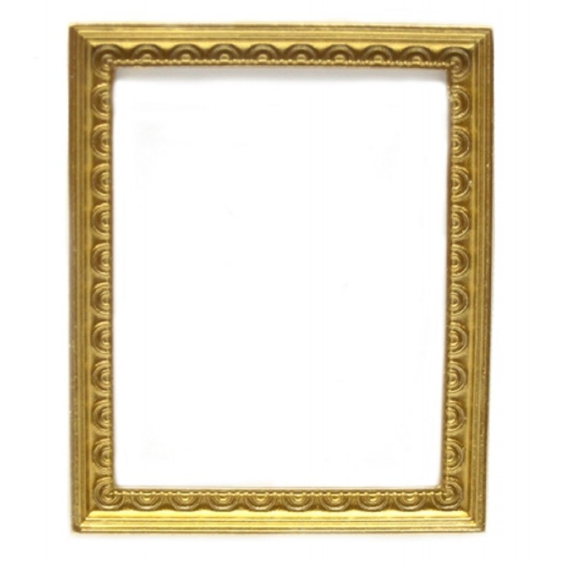 Dolls House Gold Decorative Empty Picture Painting Frame Miniature Accessory