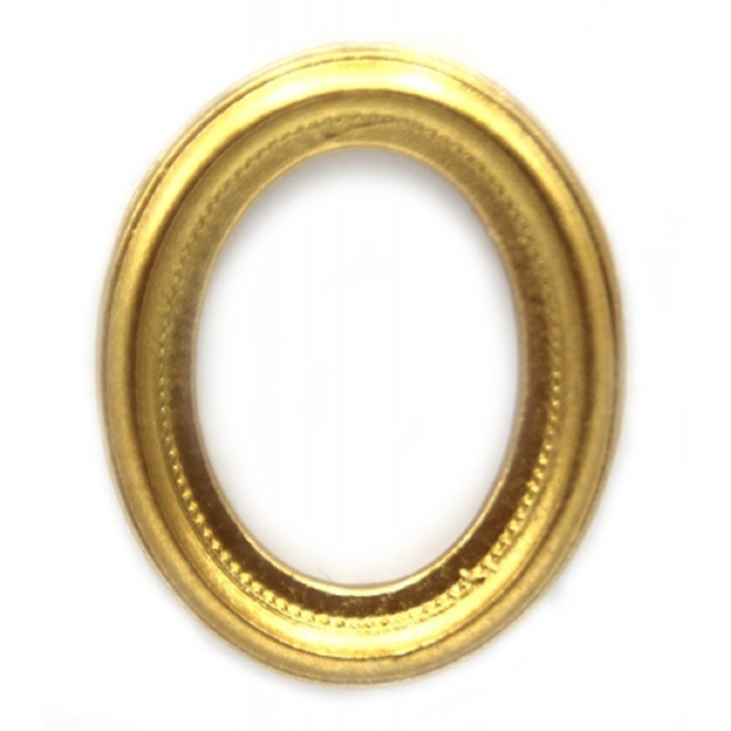 Dolls House Small Oval Empty Gold Picture Painting Frame Miniature Accessory