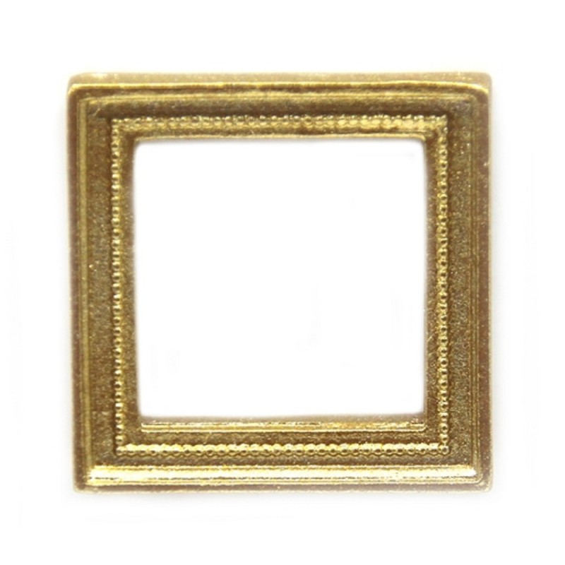 Dolls House Small Square Empty Gold Picture Painting Frame Miniature Accessory