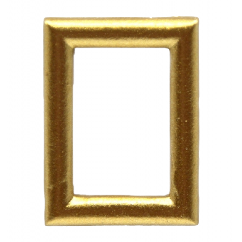 Dolls House Small Empty Smooth Gold Picture Painting Frame Miniature Accessory