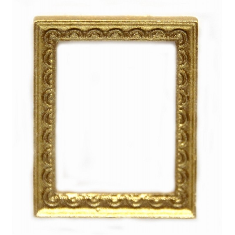 Dolls House Small Empty Ornate Gold Picture Painting Frame Miniature Accessory