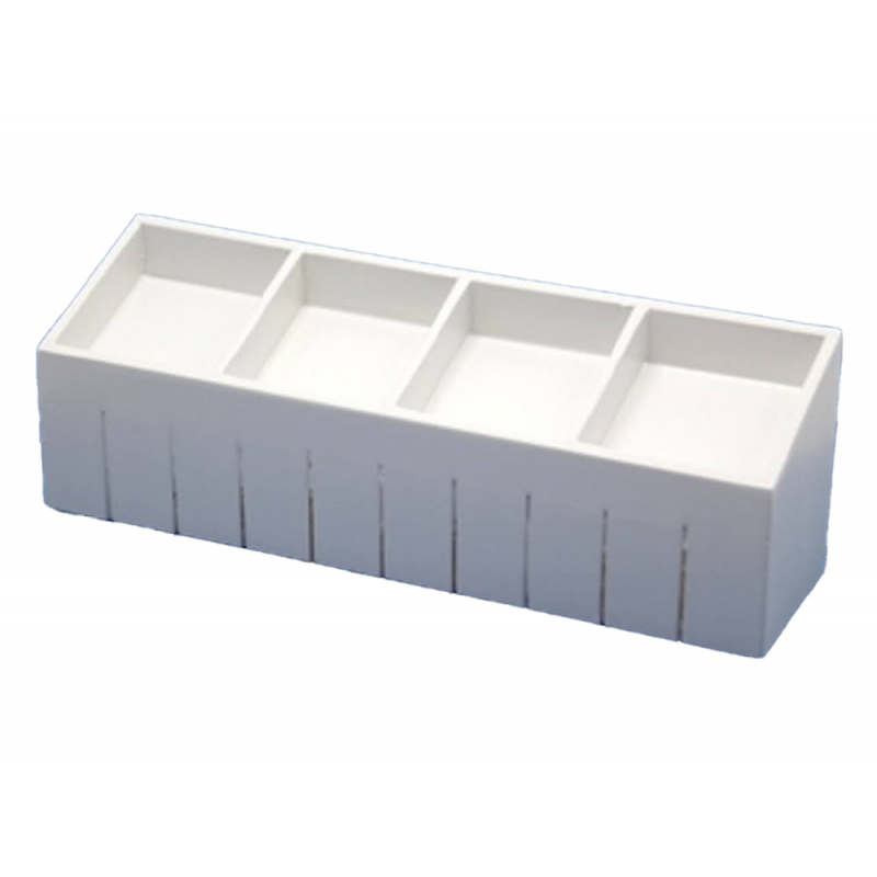 Dolls House White Divided Display Counter 1:12 Shop Fitting Store Furniture