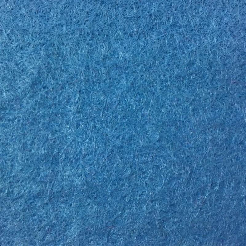 Dolls House Wedgewood Blue Wool Mix Stair Carpet Runner Self Adhesive Flooring