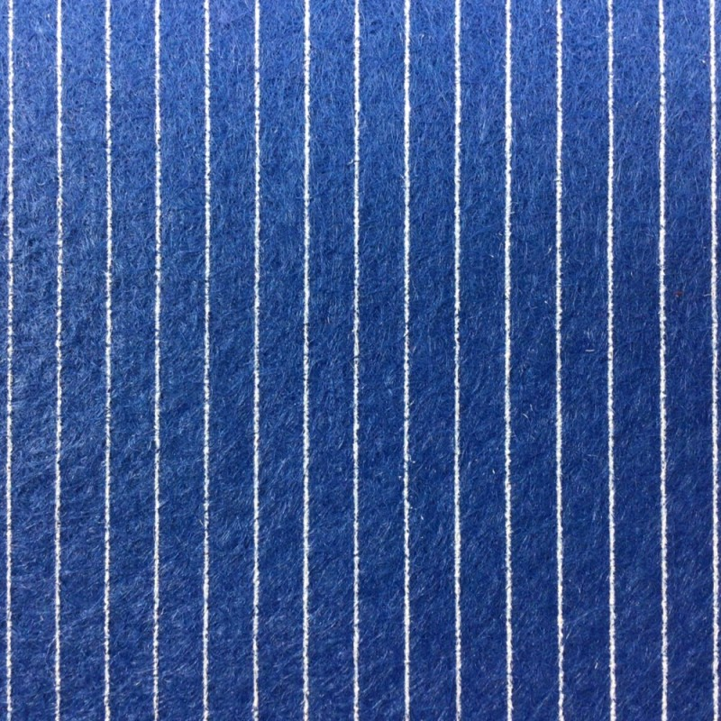 Dolls House Windsor Blue Striped Self Adhesive Carpet Wall to Wall Flooring