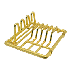 Dolls House 5589 pan Set Brass Colours 8-tlg 1:12 for doll house NEW #
