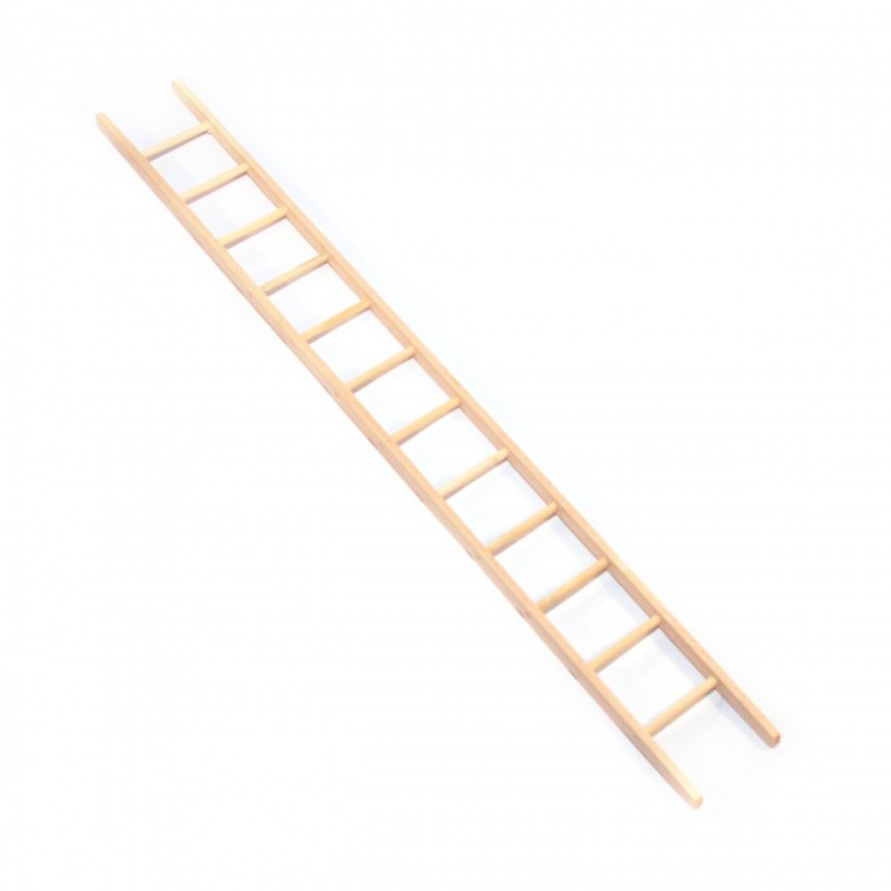 Dolls House Bare Wood Straight Step Ladder 13 Inches Miniature Garden Accessory