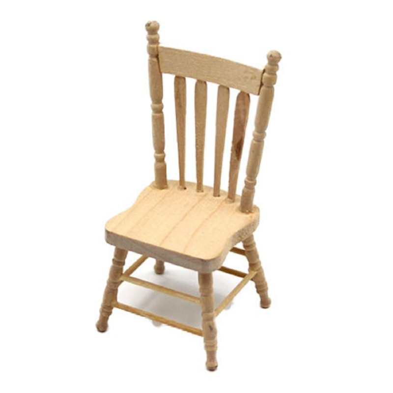 Dolls House Bare Wood Side Chair Miniature Unfinished Dining Room Furniture 1:12