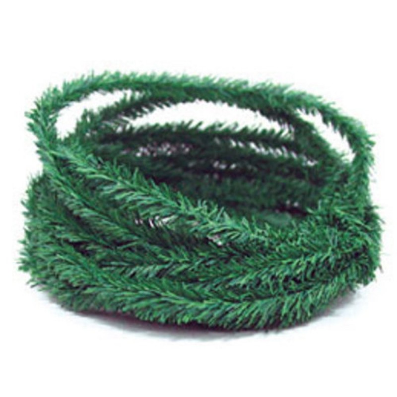 Dolls House Pine Leaf Garland Miniature Roping Christmas Decoration 17ft Long