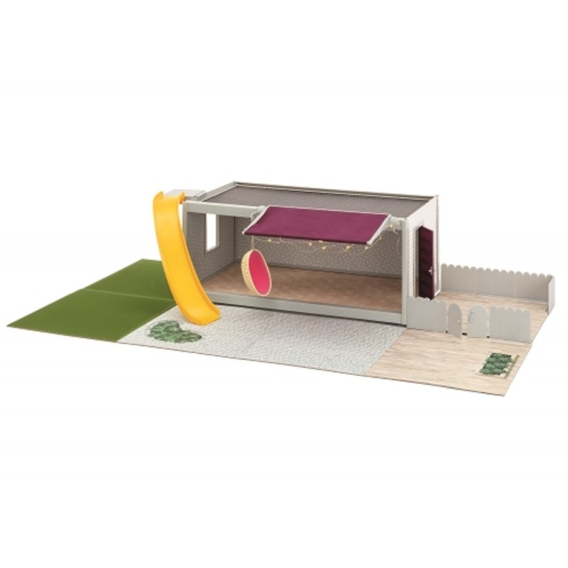 Lundby Garden Set with Battery Oudoor Lighting 1:18 Scale Swedish Dolls House