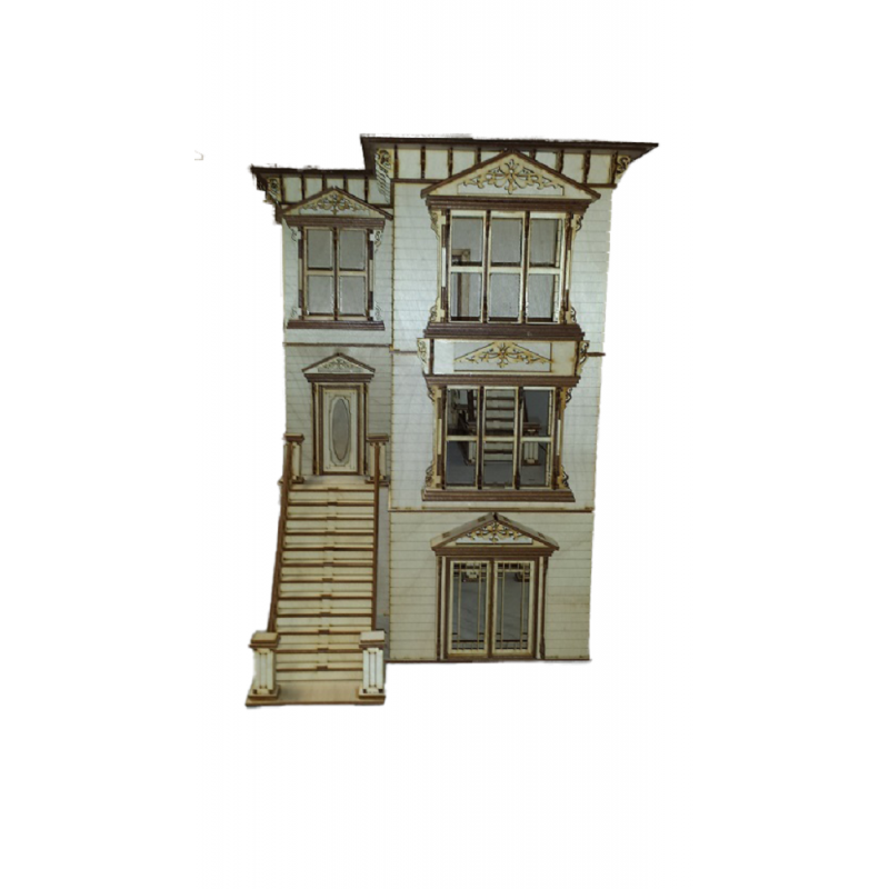 Lisa San Francisco Painted Lady Dolls House 1:24 Half Inch Scale Flat Pack Kit