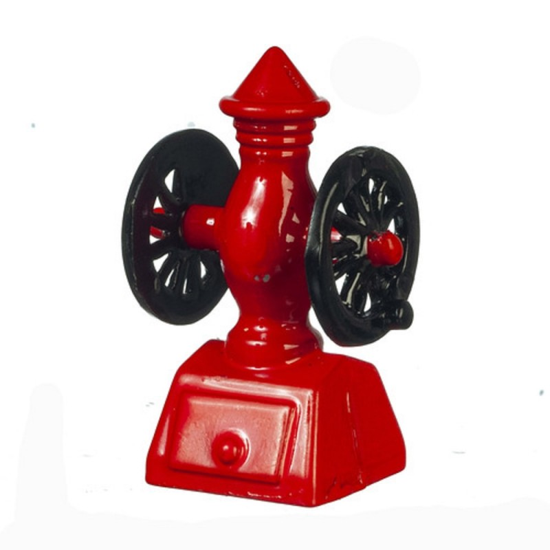 Dolls House Red Old Fashioned Coffee Grinder Miniature 1:12 Kitchen Accessory