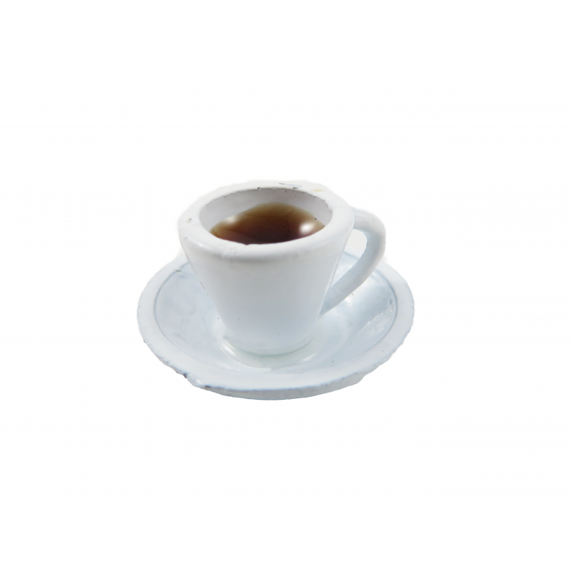 Dolls House Cup of Coffee Miniature White Teacup Dining Cafe Accessory 1:12