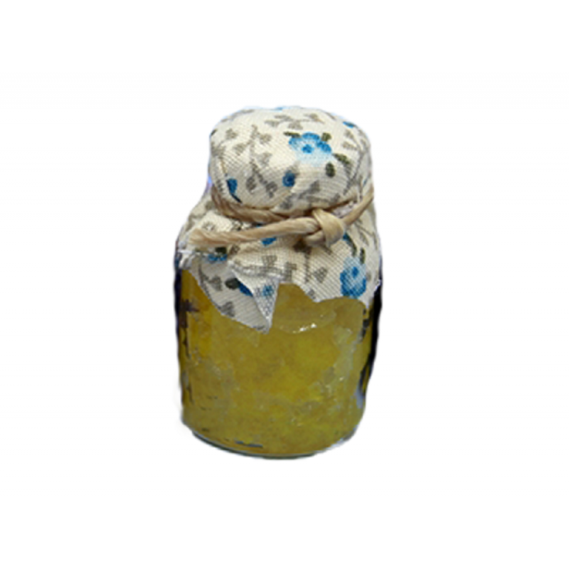 Dolls House Large Jar of Jam with Fabric Lid Miniature Kitchen Food Accessory