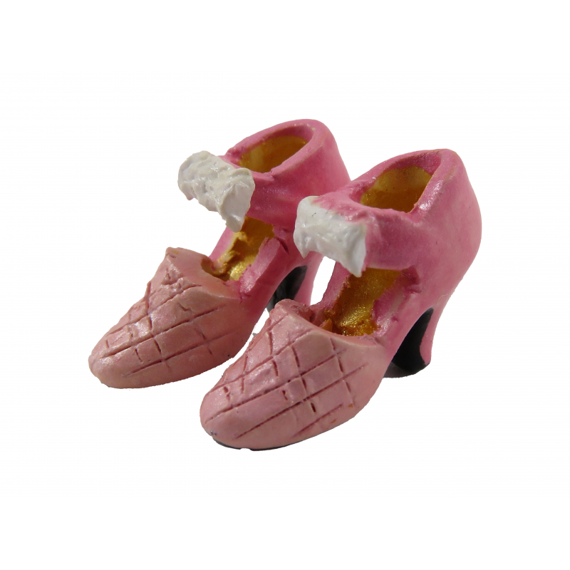 Dolls House Pink Bow Ladies Evening Shoes Miniature Shop Bedroom Accessory