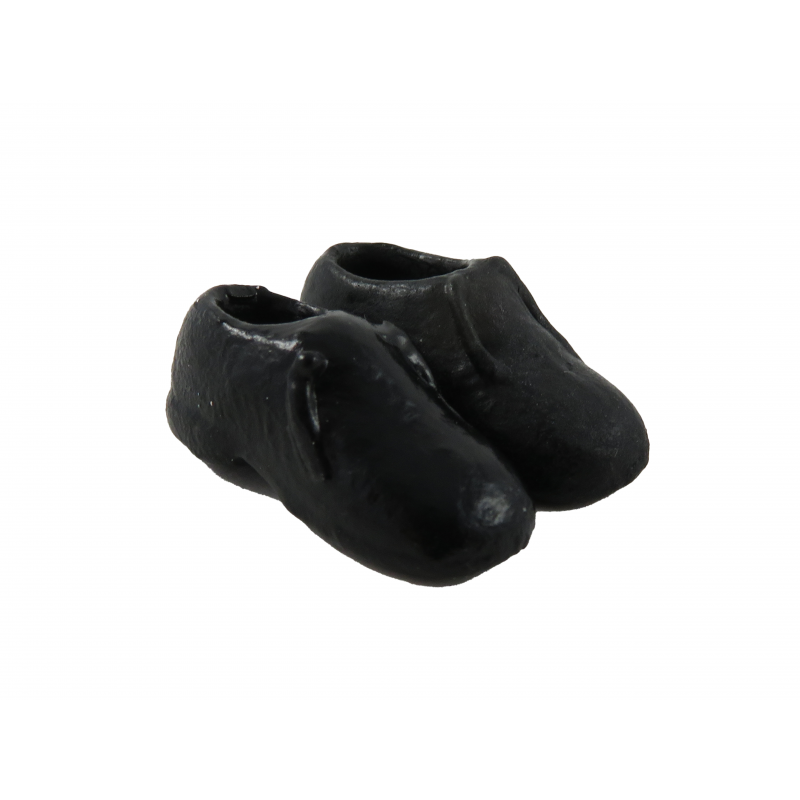 Dolls House Black Mens Shoes Traditional Miniature Shop Hall Bedroom Accessory