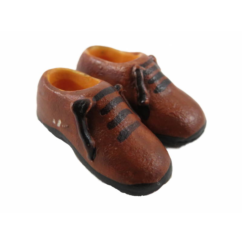 Dolls House Brown Mens Shoes Traditional Miniature Shop Hall Bedroom Accessory