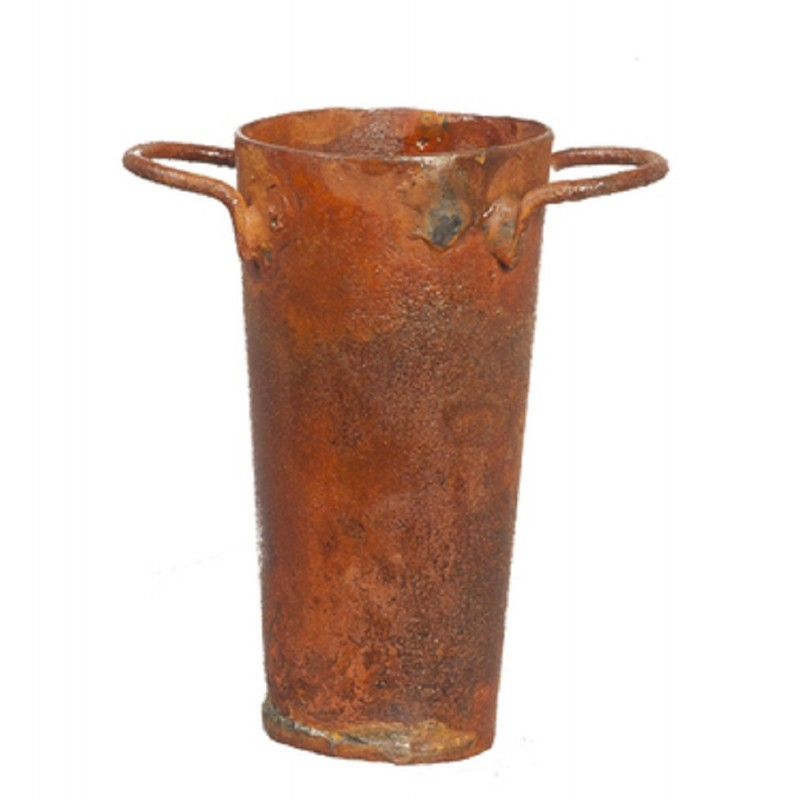 Dolls House Aged Rusty Tall Tin Bucket Miniature Old Fashioned 1:12 Accessory
