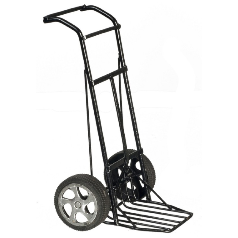 Dolls House Black Sack Truck Hand Trolley Dolly Miniature Work Accessory