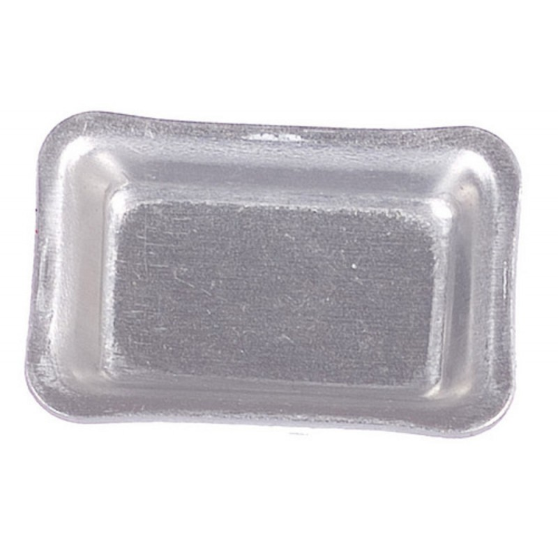 Dolls House Silver Baking Serving Tray Miniature Kitchen Dining Accessory