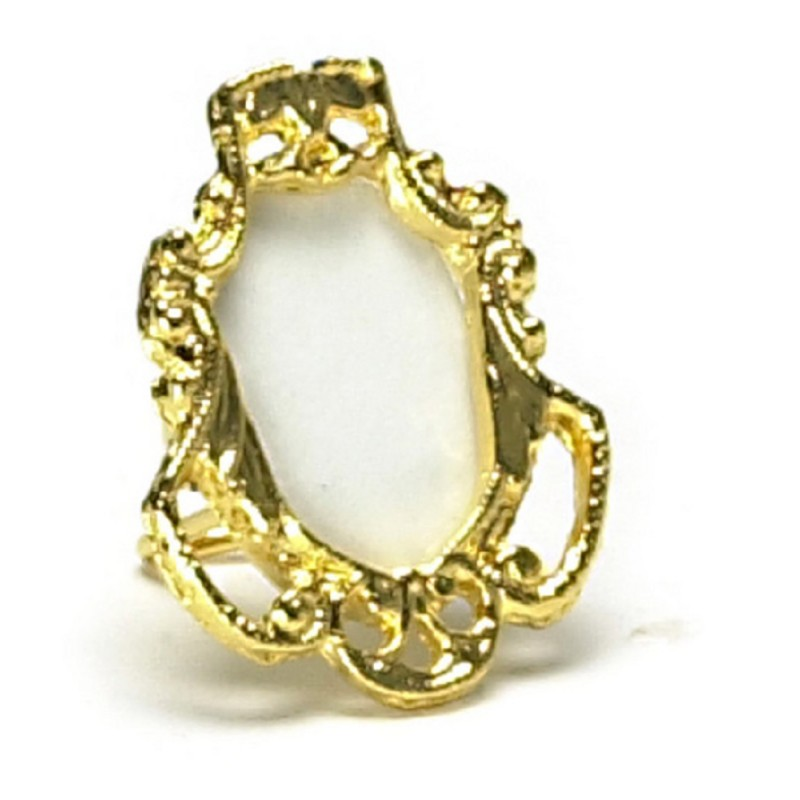 Dolls House Empty Ornate Gold Picture Frame Small Oval Miniature Accessory