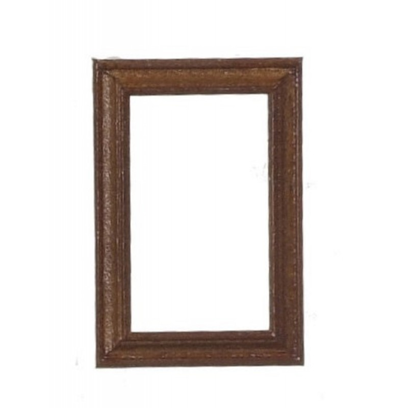 Dolls House Empty Walnut Picture Painting Frame Miniature 1:12 Scale Accessory