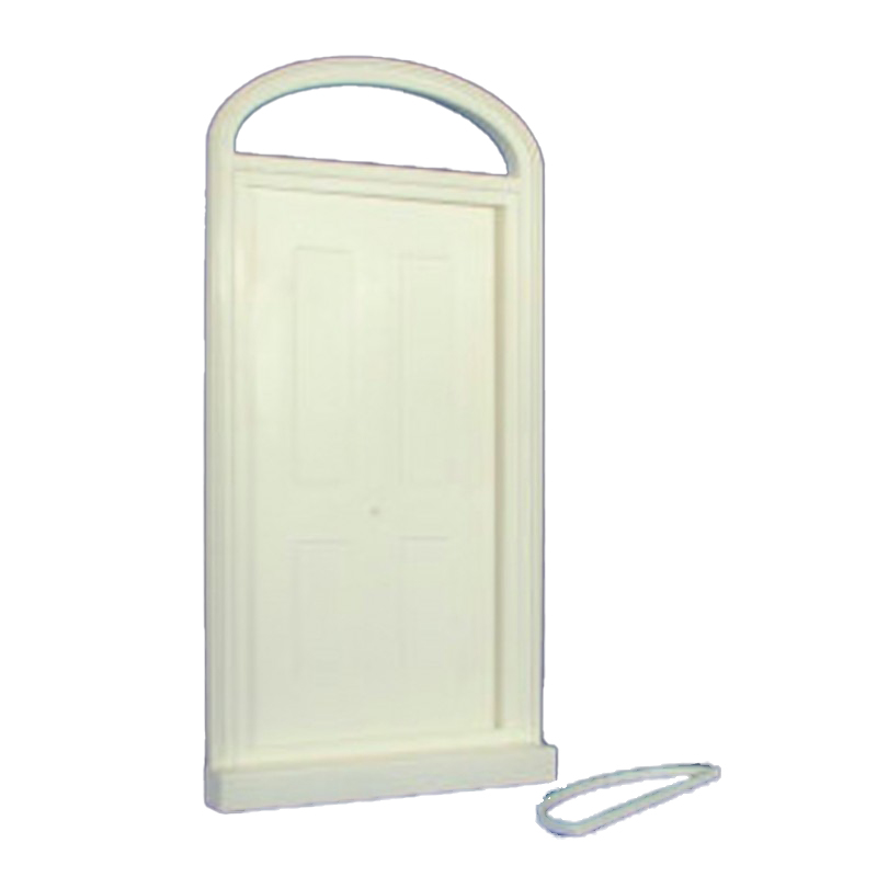 Dolls House Large Victorian Front Door White Plastic External Oval Fanlight 1:12
