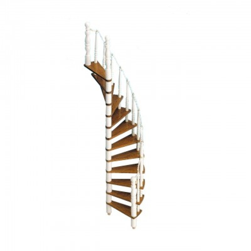 Dolls House Spiral Staircase Kit Wooden 1:12 Scale Miniature Stairs Builders DIY