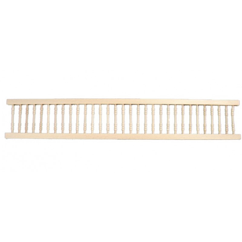 Dolls House Miniature Fixtures Fittings 1:12 Natural Wood Porch Railing Round