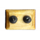 Dolls House Traditional Double Light Switch DIY Fittings Hardware 1:12 Accessory