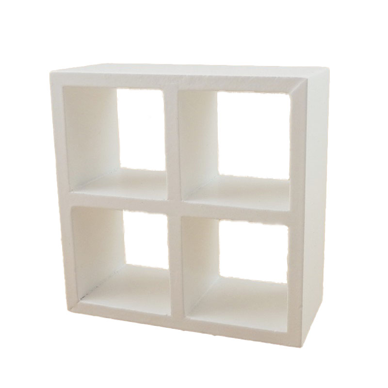 Dolls House 4 Cube Display Unit White Modern Shelves Bookcase 1:12