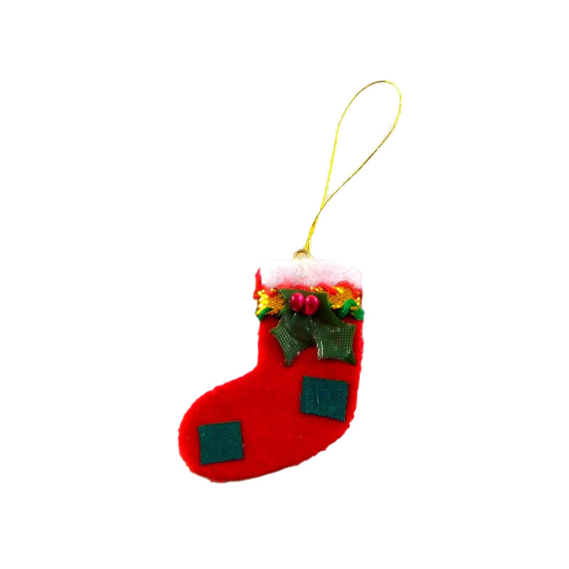 Dolls House Miniature 1:12 Accessory Christmas Decoration Red Hanging Stocking