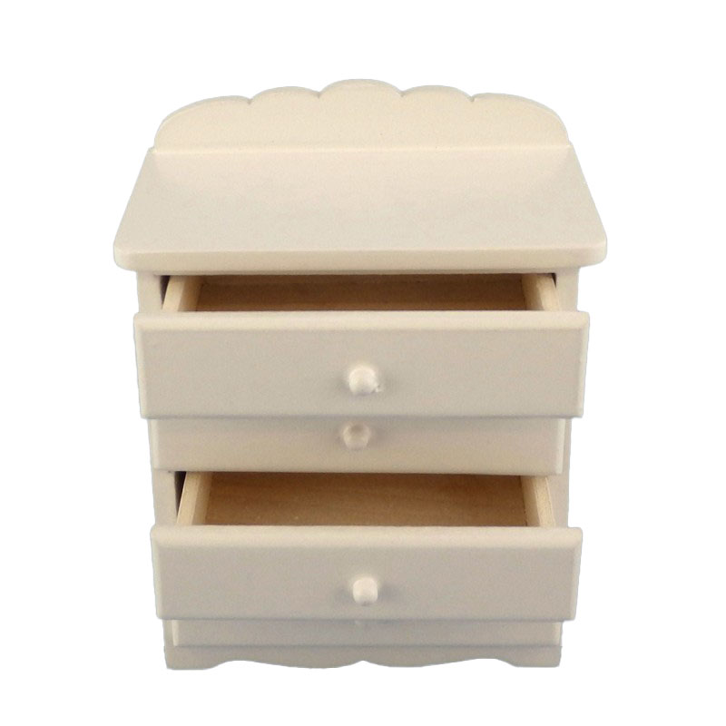 Dolls House Miniature 1:12 Bedroom Nursery Furniture White Chest of Drawers