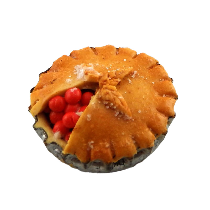 Dolls House Home Made Large Cherry Pie Miniature Handmade Food Kitchen Accessory