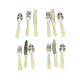 Melody Jane Dolls House Cutlery Set Cream Handles Miniature Dining Accessories