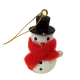 Dolls House Miniature 1:12 Scale Christmas Tree Ornament Decoration Snow Man