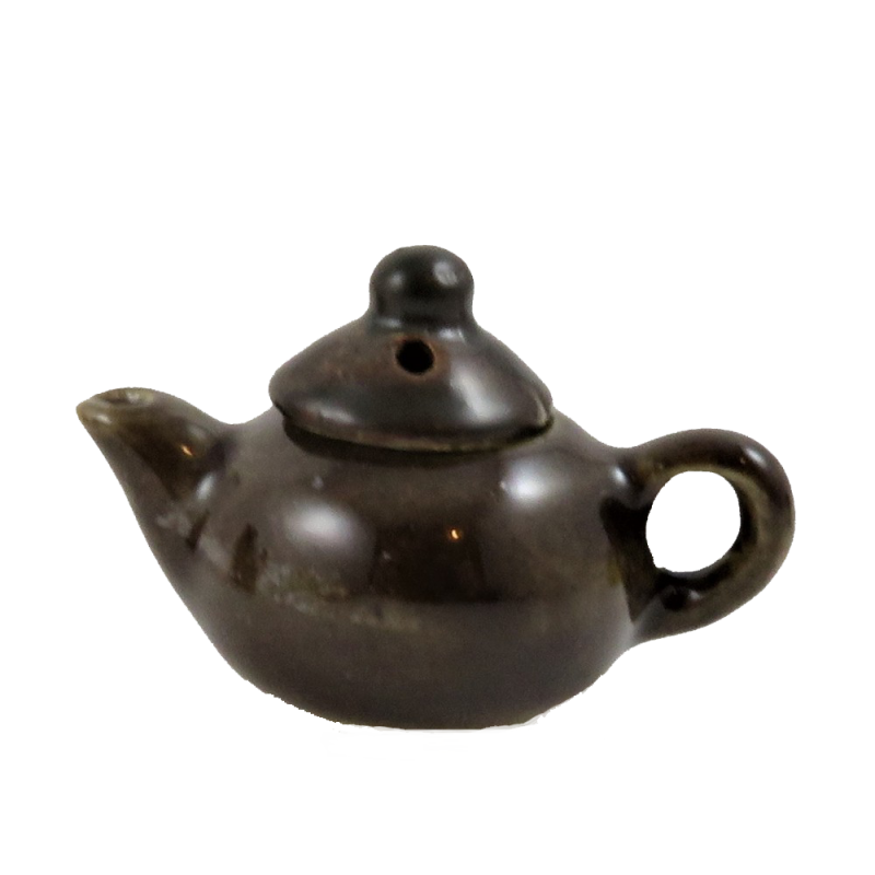 Dolls House Old Fashioned Brown Betty Tea Pot 1:12 Kitchen Accessory