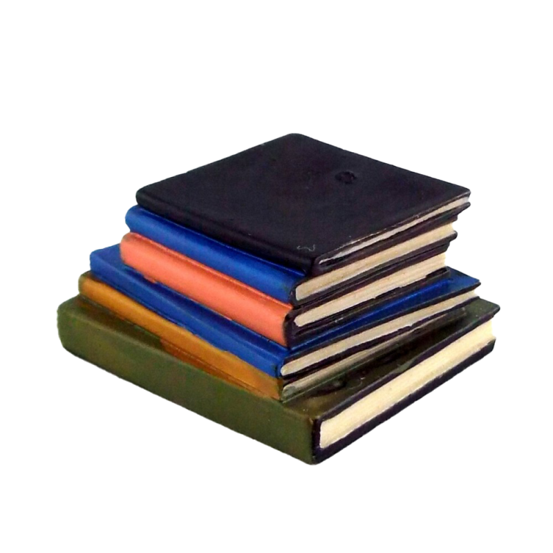 Dolls House Stack of Books Miniature Library Study Office Desk School Accessory