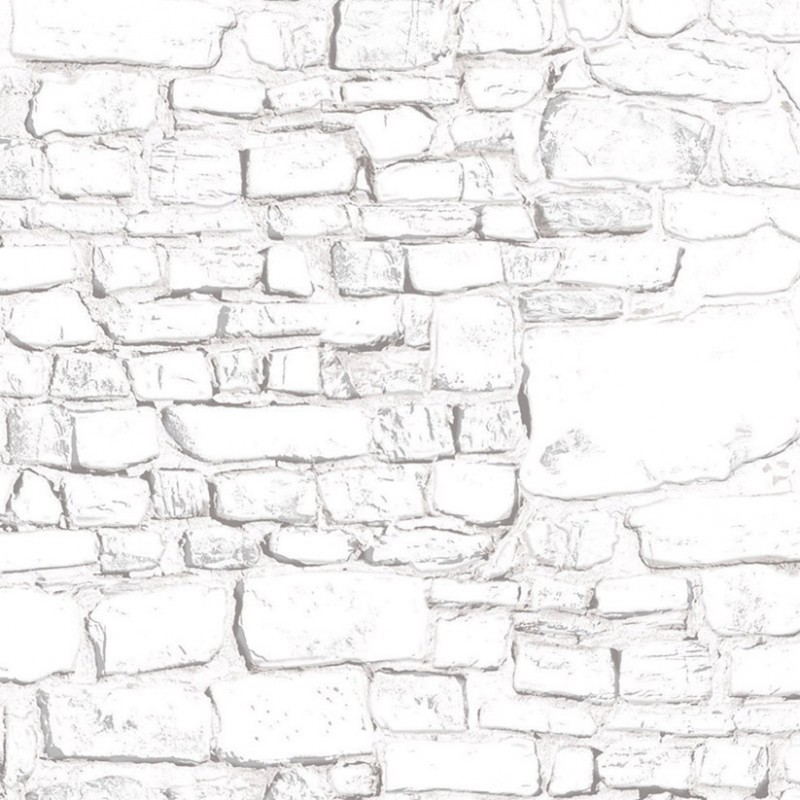 Dolls House Whitewashed Stone Wall Exterior DIY Card Sheet 1:12 Scale