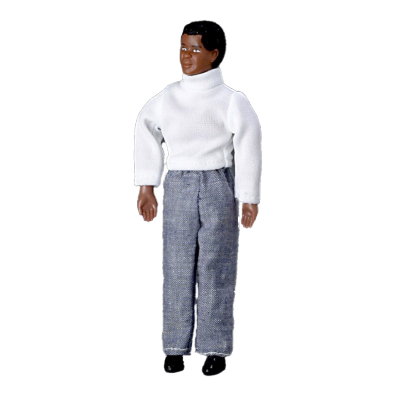 Dolls House Miniature 1:12 Scale People Black Father Dad Man