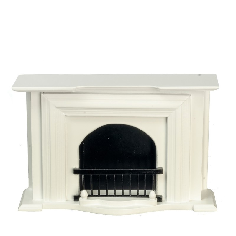 Dolls House Miniature 1:12 Scale Furniture White Wooden Fireplace