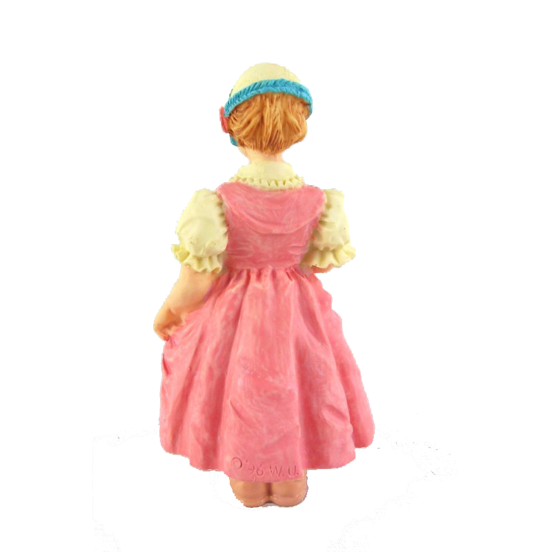Dolls House Victorian Working Class Girl Miniature Resin People 1:12 Scale