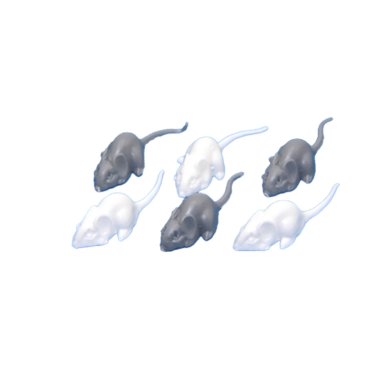 Dolls House 3 White & 3 Grey Mice Miniature Accessory Animal Mouse
