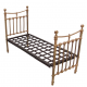 Dolls House Metal Victorian Single Bedstead Kit Miniature 1:12 Can Be Painted