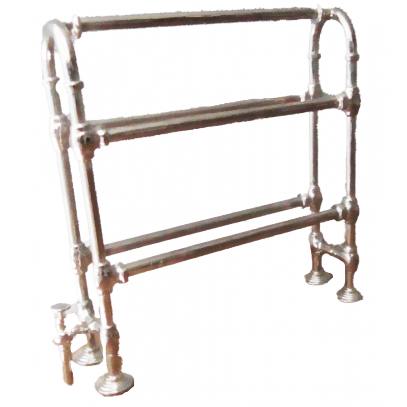 Dolls House Metal Curved Double Towel Rail Kit Miniature 1:12 Can Be Painted