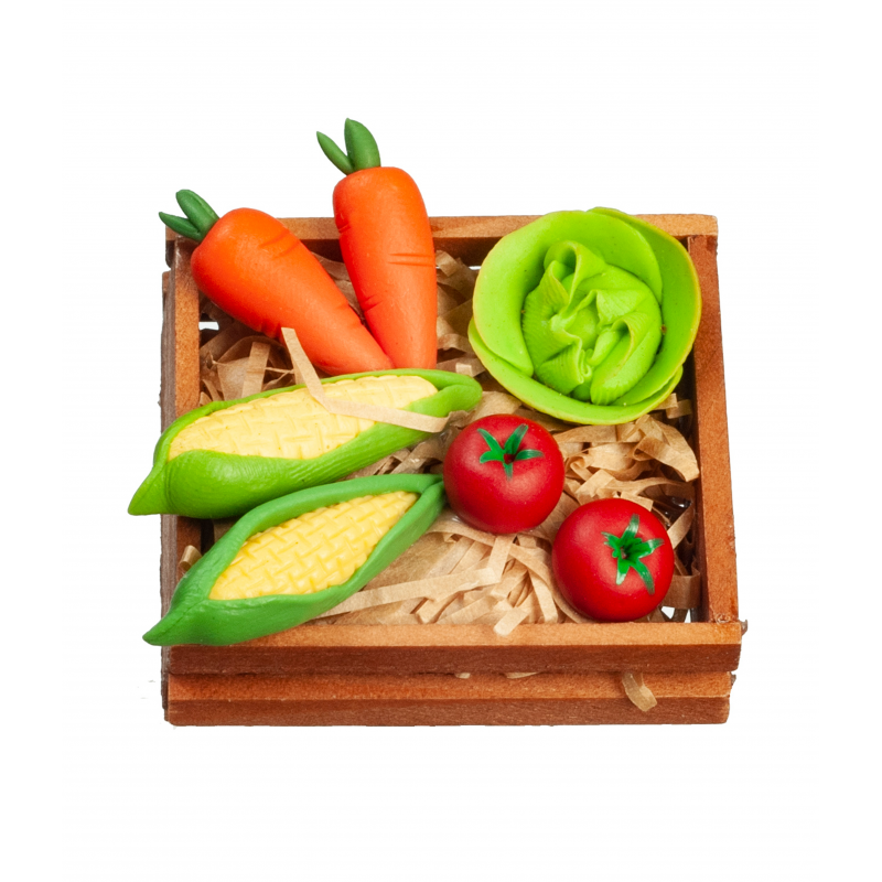 Dolls House Crate of Vegetables 1:12 Kitchen Greengrocers Food Shop Accessory