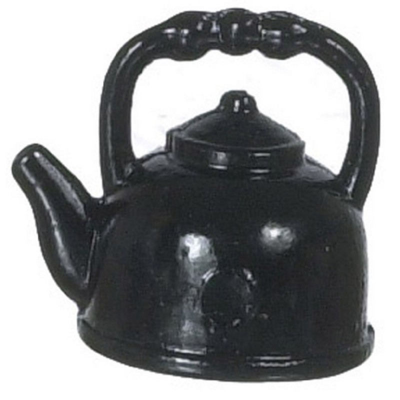Dolls House Miniature Kitchen Accessory Old Fashioned Black Kettle