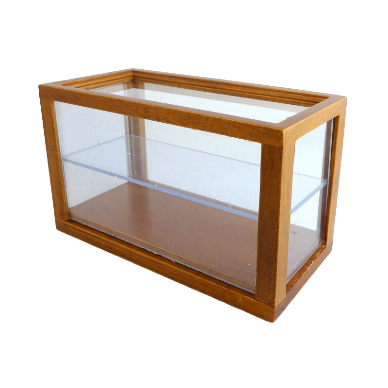Dolls House Walnut Wooden Shop Fitting Display Case Counter Miniature Furniture